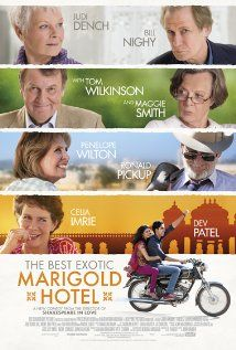 The Best Exotic Marigold Hotel - superb actors, awkwardly funny scenes. An entertaining comedy drama. I loved it!