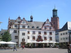 The Marktplatz, Darmstadt, Germany    Visited this place many times during our stay in Darmstadt.
