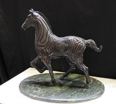 Spanish Bronze Horse Statue Sculpture Abstract Picasso Art