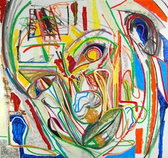 Abstract art portrait by Marten Jansen, painted in 2008