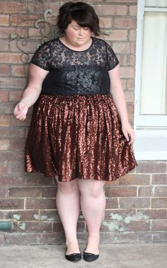 Plus Size Clothing for Women - Mermaiden Sequin Midi Skirt - Rose ...