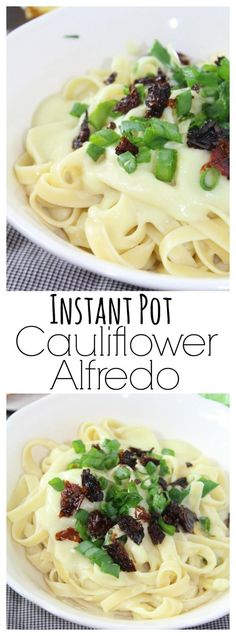 A head of cauliflower is transformed into a flavorful, creamy alfredo sauce that's low in fat and beautiful on pasta.