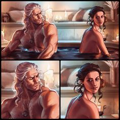 """""""Another The Witcher fanart cause I loved this scene and I couldn't resist 👀 The Witcher Game, Witcher Art, Comic Books Art, Book Art, Yennefer Of Vengerberg, Avatar Aang, Monster Hunter, Character Design Inspiration, Fantasy World"""