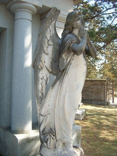 angel at Holy Sepulchre Cemetery, Omaha, NE. - Celestial Reflections Photography