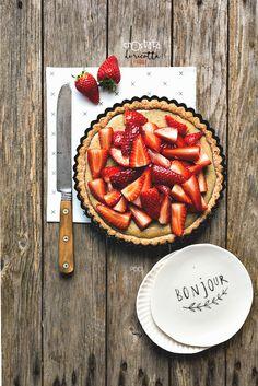 #Crostata alla #ricotta e #fragole #recipe #strawberries #food #cake