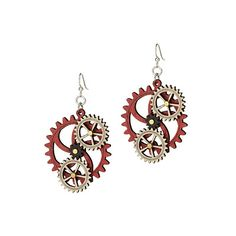 Look what I found at UncommonGoods: kinetic gear earrings... so want these, but I think I'd have to chop all my hair off first... since I think they work!