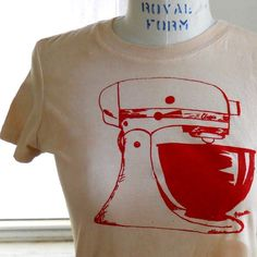 Ladies kitchen Mixer tshirt Retro Mamma Ladies by CausticThreads, $20.00