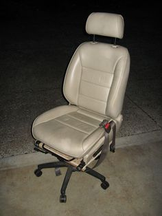 DIY office chair from car seat for less than $50