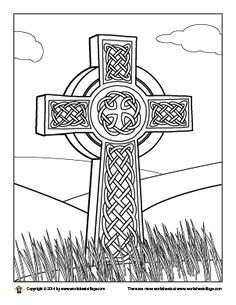celtic cross coloring page - St Patrick Coloring Page Catholic