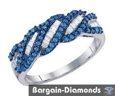 blue white diamond .48 carats infinity ring 925 wedding birthday love journey #BargainDiamonds #Journey
