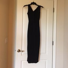 Black cotton maxi dress Black cotton maxi dress NWT never worn. Size X small Dresses Maxi