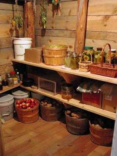 Definitely need a root cellar in my basement. Also need a pantry upstairs. And a basement...