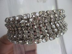 Rhinestone bracket vintage wide bride bracelet by 2007musarra, $69.99