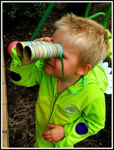 Dinosaur Party - make binoculars from old toilet paper rolls ... I feel like you should make these for your preschoolers ... or Brettadilous :)