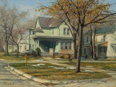 """John Pototschnik Fine Art  """"Last of the Snowdrifts"""" - 18""""x 24"""" - OIl"""