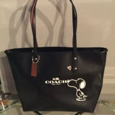 "coach x peanut Authentic bag calf leather Inside zip pocket and multi - function pockets top zip closure dimension 11  3/4"" L x10 1/2"" H x 5 1/2 w Coach Bags Totes"