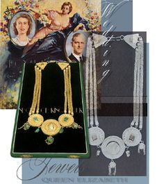 To honor the #royal #platinumanniversary #wedding anniversary - of today an oustandig marriage present - which the Queen was presented from King Farouk of Egypt - gold necklace with coins  #royals #jewellery #royaljewels