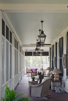 Prevalent in the Southeastern coastal communities, the screened porch is a fabulous addition for any southern style home for relaxation. Screened Porch Designs, Screened In Porch, Porch Swing, Front Porches, Enclosed Porches, Country Porches, Southern Porches, Veranda Design, Balcony Design