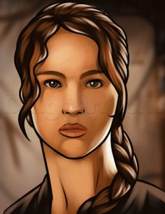 how to draw katniss easy from Hunger Games