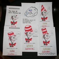 FREE Dr. Seuss Cat In The Hat 3 D Shape Booklet