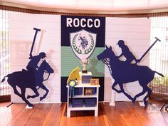 Rocco's Polo Tournament Themed Party – Stage Backdrop
