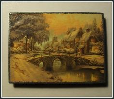 """""""Christmas Village"""". Home Décor magnet from my «Magnetic Force» collection. Made to order."""