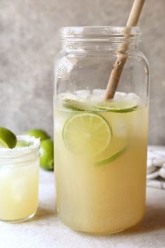Margaritas for a crowd couldn't be easier! >> Jump to the recipe You know what your summer is missing? A night with friends filled with fun, laughter, and a big pitcher of margaritas. And I am 100% here for you with the easiest big batch margarita recipe.It all starts with a can of frozen limeade …