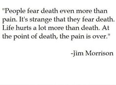 knowing the pain is gone is the only thing that brings comfort
