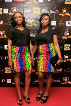 Beautiful african prints skirts. Love colors