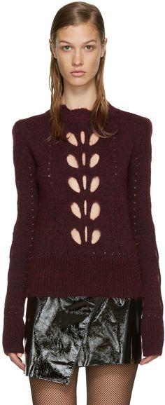 Isabel Marant - Burgundy Cut-Out Ilia Sweater