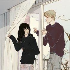 Cute Couple Art, Anime Love Couple, Couple Cartoon, Couple Illustration, Illustration Art, Liz Clements, Anime Love Story, Character Art, Character Design
