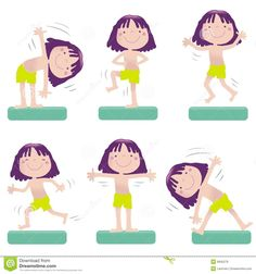 Illustration about Sportive little girl exercising, vector cartoon. Educational series- see more in my portfolio. Illustration of fitness, action, exercise - 6840279 Physical Fitness Program, Chore Board, Stubborn Belly Fat, Boredom Busters, Muscle Fitness, Girl Cartoon, Workout Programs, Exercise, Muscles