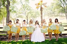 Vera Bradley wedding and yes sporting the green and gold :)  #SicEm
