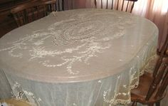 ANTIQUE EMBROIDERED NET TABLECLOTH / BRIDAL VEIL - 76 in x 215 in (6 yards) - SOLD Veil, Yards, Bridal, Antiques, Table, Ebay, Furniture, Home Decor, Antiquities