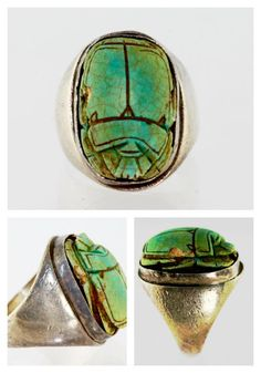 Sterling Silver Signet Ring Antique Scarab Beetle – Yourgreatfinds