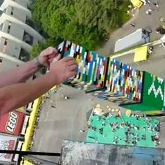 The tallest LEGO tower in the world (105 ft. tall, made of over 500,000 blocks)