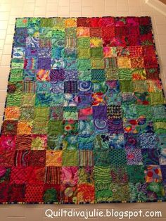 patchwork and applique Batik Quilts, Jellyroll Quilts, Scrappy Quilts, Bright Quilts, Colorful Quilts, Pink Quilts, Small Quilts, Quilting Projects, Quilting Designs