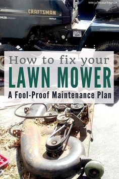 Fix Lawn Mower 561753753511711054 - How to Fix Your Lawn Mower with an Maintenance Plan Source by justmeasuringup Lawn Mower Maintenance, Lawn Mower Repair, Craftsman Riding Lawn Mower, Lawn Care Business, Lawn Mower Tractor, Mowers For Sale, Lawn Equipment, Riding Lawn Mowers, Garden Landscape Design