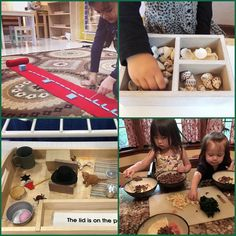 Having fun discovering what other Montessori families business owners and guides are on sharing on IG. In an effort to support other small business owners we are creating #followfriday posts check them out.   Starting top left and going clockwise  Seemi from @trilliummontessori shares supportive content for guides working in the prepared environment with children. She constantly is coming up with content summits and courses that are well worth your time.  Isabel from @unozweitutu who I am…
