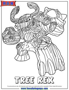 this cute coloring book page check out these similar wrapcircular disabletitlemetamoredatevisit skylanders giants life first edition tree rex