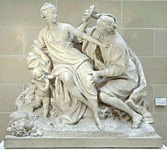 """Vertumne et Pomone"", Jean-Baptiste II LEMOYNE, 1760, pierre © Musée du Louvre/P. Philibert"