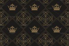 design pattern vector art Damask Wallpaper, Vector Art, Pattern Design, Damask Patterns