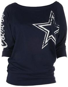 Dallas cowboys dolman tee - women on shopstyle.com