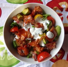 Smoked Salmon BLT Salad |