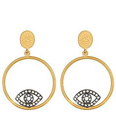 Regalia Jewels Evil Eye Hoop Earrings: my kind of spin on Manhattan