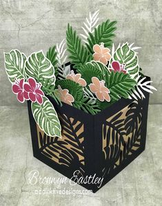 Tropical Chic Planter Box Card