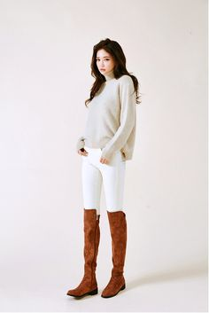 Longer Back Basic Polo Knit Sweater - I know you wanna kiss me. Thank you for visiting CHUU.