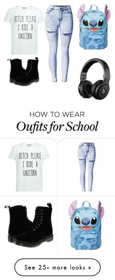 """""""school's tomorrow"""" by jasmine108-1 on Polyvore featuring Disney and Dr. Martens"""