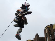 Shoefiti:  Why People Hang Shoes on Power Lines
