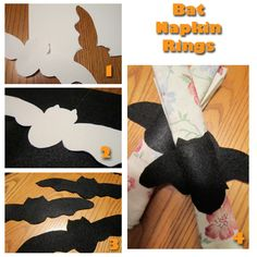 Bat Napkin Rings and Bat Costume from  These Light Footsteps